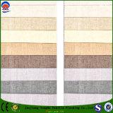 Tela de lino tejida materia textil del poliester impermeable de la tela de la tela para el sofá y la cortina