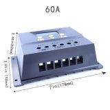regulador solar del descargador del cargador de 60A 12V/24V con el estatus 60I de la carga de batería del indicador del LED