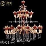 Indicatore luminoso di vetro in lega di zinco e rosso dorato del lampadario a bracci