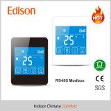 Étalage bleu de contre-jour de panneau de contrôle de thermostat de RS485 Modbus