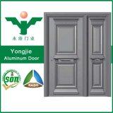 Puerta principal de cristal usada del apartamento de la puerta del marco de aluminio comercial