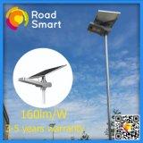 luz de calle solar integrada de 15W-50W LED con la batería de litio