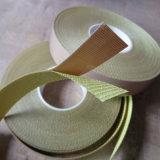 Bande anti-calorique revêtue de téflon de tissu en verre