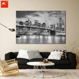 Stampe urbane in bianco e nero della tela di canapa di New York