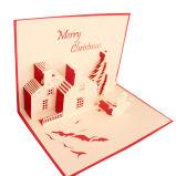 Impresión de lujo de la tarjeta de felicitación del regalo de la Navidad de la historieta