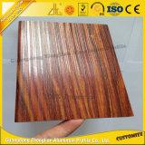 6063 [ت5] صنع وفقا لطلب الزّبون خشبيّة ألومنيوم قطاع جانبيّ لأنّ زخرفة