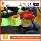 Ddsafety 2017 9s Flourescent 5 Fils T / C Shell Orange Latex Coating Gloves