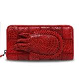 Pochette véritable de course d'embrayage de cuir de crocodile de pochette de luxe d'hommes