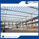 Struttura prefabbricata d'acciaio del workshop galvanizzata costruzione chiara poco costosa