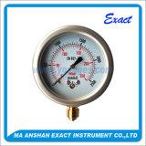 Calibre Manómetro-Seco da conexão da Calibrar-Parte inferior da pressão da cápsula