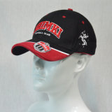 Gorra de béisbol negra del algodón con 3D bordada