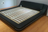 新しく優雅なデザイン寝室のための現代本革のベッド(HC561)