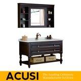 Neue erstklassige heiße verkaufende einfache Art-festes Holz-Badezimmer-Eitelkeits-Badezimmer-Schrank-Badezimmer-Möbel (ACS1-W43)