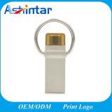 Mini azionamento dell'istantaneo del USB del telefono del metallo del USB Pendrive dell'anello portachiavi