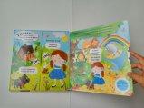Empuje de ultramar y tirón de los niños de la impresión del libro que aprenden el libro de la tarjeta