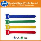 Atadura de cables del gancho de leva del OEM 100%Nylon y del Velcro del bucle