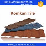 2017 azulejos romanos de la hoja del material para techos del metal revestido de la piedra del precio competitivo