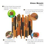 Schwarze Mosaik-Glaswand-Fliesen für die Badezimmer-Kirche befleckt