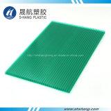 hoja verde de la depresión del policarbonato de la Gemelo-Pared de 6m m con el SGS