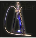 GlasHuka mit Eisen-Regal und LED-Licht