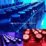 Luz al aire libre de la IGUALDAD de la etapa 54*3W RGBW LED de DMX