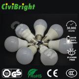 Natualの白い従来形55mm 5W E27 LEDの電球