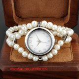 Вахта грациозно милых женщин кварца с планкой Fs580 перлы