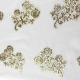 75% de seda 25% Metallized Thread Cut Flower Clipping Chiffon Fabric