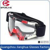 Het glanzende Zwarte Wind Opvullen van het Schuim van de Laag van de Beschermende brillen van de Ruiter van de Fiets van Moto van de Lens Drievoudige