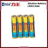 Bateria alcalina seca de pilha Lr03 Am4 do OEM Lr03 AAA com a amostra livre disponível