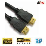 Connecteur en or 19 pouces 1.4V Support Câble HDMI 4k 60p