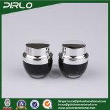 30ml de zwarte Containers van het Glas voor het Schoonheidsmiddel die van de Room de Kruik van de Room van het Glas van 1 Oz met Aluminium GLB verpakken