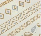 Etiqueta engomada temporal impermeable metálica de cadena de plata del tatuaje del oro