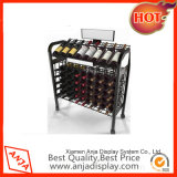 De metal estante del vino