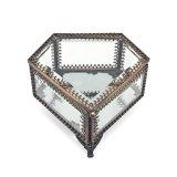 Hochzeits-Geschenk-preiswerter Glasschmucksache-Kasten Jb-1087