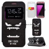 Móvil de la PU/cubierta de cuero del teléfono celular para el borde de Samsung S7