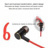 Oortelefoon van de Hoofdtelefoon van Earbuds van de Hoofdtelefoon van Bluetooth van de Sporten van het in-oor van het metaal de Draadloze Stereo