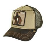 Gorra de béisbol de madera arbolada de Strapback del camionero