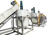 El fregado de las botellas del HDPE que recicla machacando la botella de leche de la planta recicla la línea