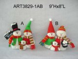 "De "" árvore de Natal Decoration-2asst do ornamento do boneco de neve H 6"