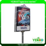 装置の街灯のポール・ライトボックスの広告