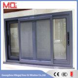 Puder-überzogenes schiebendes Aluminiumfenster mit Edelstahl-Netz Mq-01