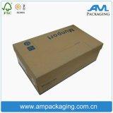 La caja de embalaje de papel de la ropa anunció a surtidor de empaquetado de los rectángulos de regalo del zapato hecho a mano en Dongguan
