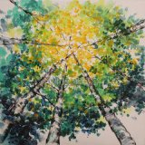 Pittura a olio astratta della riproduzione per l'albero (ZH3452)