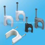 Clips de cable cuadrados del rectángulo con el clavo de acero