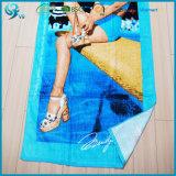 Выдвиженческим полотенце ткани велюра хлопка изготовленный на заказ напечатанное изображением