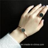 Pulseira aberta feita sob encomenda do bracelete do punho do aço inoxidável da jóia nova da forma