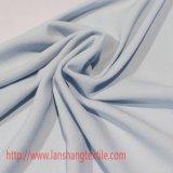 Tessuto chiffon di tela falso unito di bambù del poliestere per il vestito dal pannello esterno