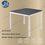 La HK moderna semplice designa lo scrittorio di legno del lavoro dell'acciaio inossidabile