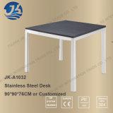 Bureau de travail en bois en acier inoxydable simple moderne HK Style
